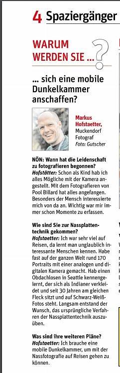 Interview in der NÖN